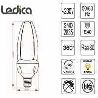 Produktdetails led lampe e40