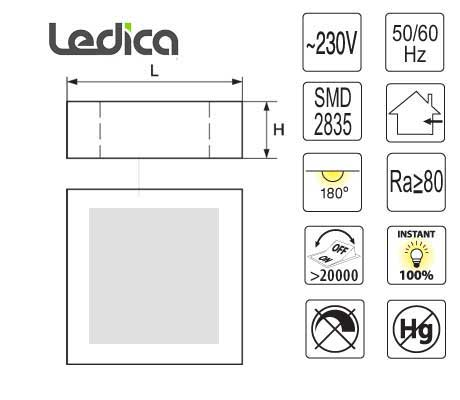 Led 6W Spezifikationen panel