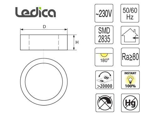 Led 24W Spezifikationen panel